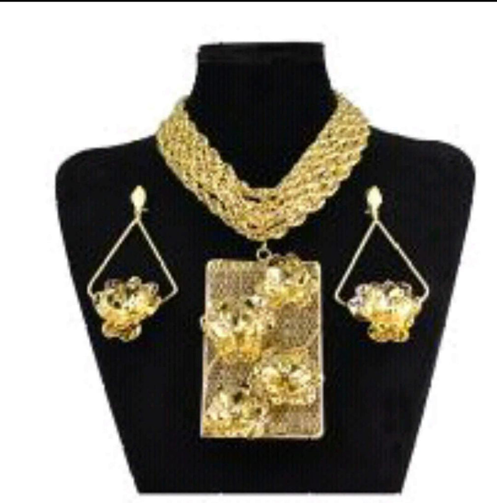 Party Gold Jewelry Set - Ladybee Swiss Lace