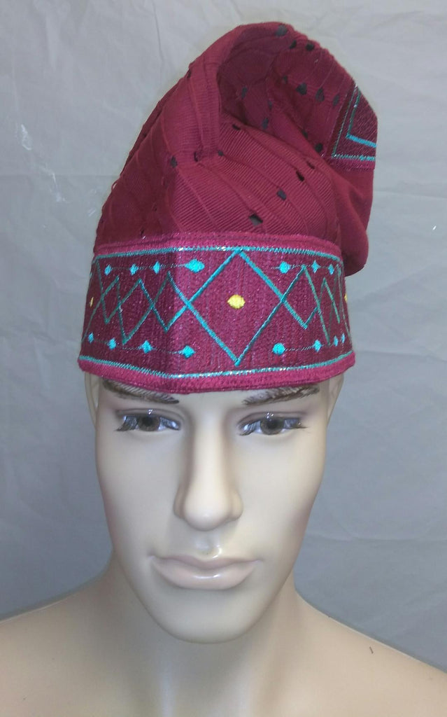 Nigerian Traditional  Native  Wear Men Cap for Traditional Ceremoneis - Ladybee Swiss Lace