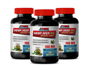 Hemp Seed Oil Cold Pressed 700 MG Softgels