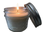 4 oz Glass Mason Jar Hemp Infused Candle