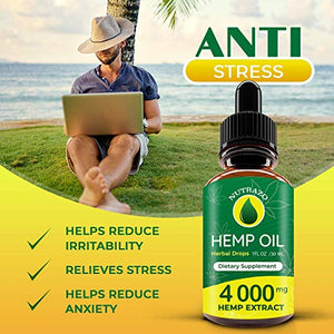 Hemp Oil Drops 4000 mg