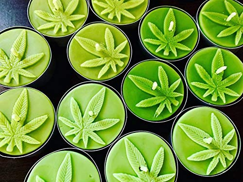 Cannabis Marijuana Weed leave Candles