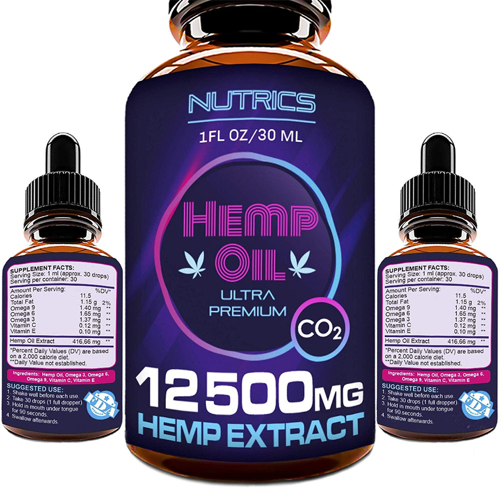 Hemp Oil Drops 12500mg
