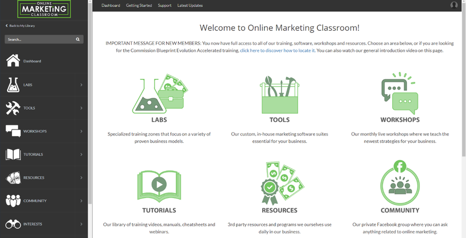 Review of the Online Marketing Classroom (2019)