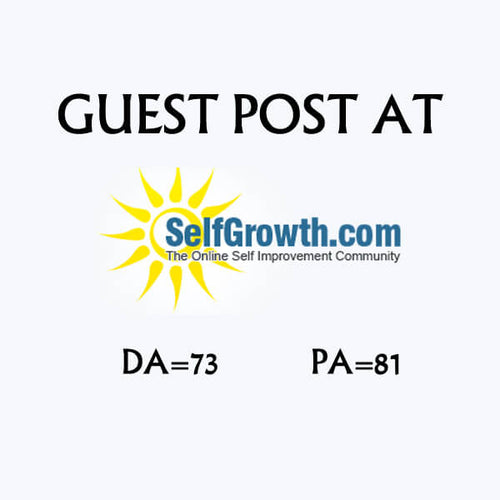 Guest Post On Selfgrowth