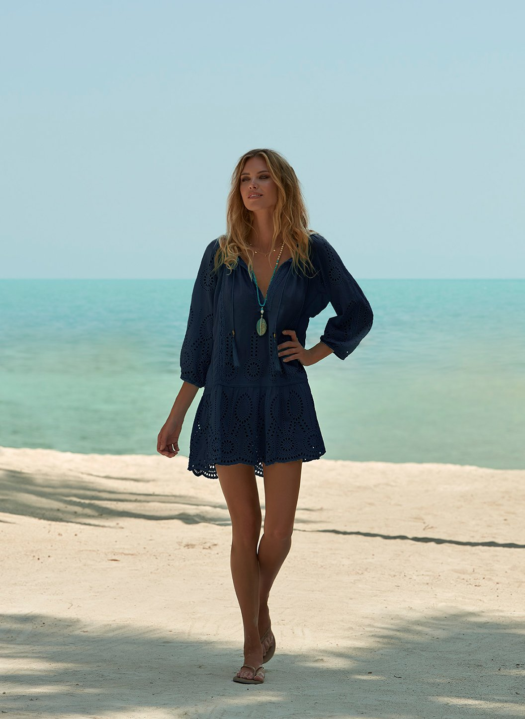 Ashley Navy Kaftan