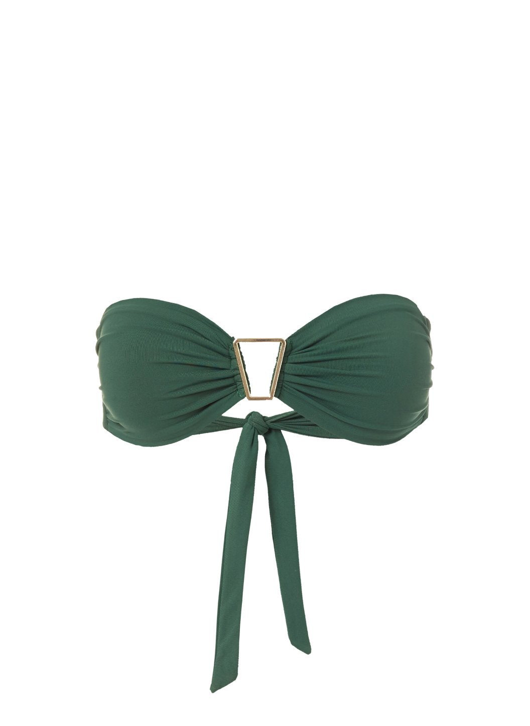 Barcelona Forest Bandeau Triangle Trim Bikini Top