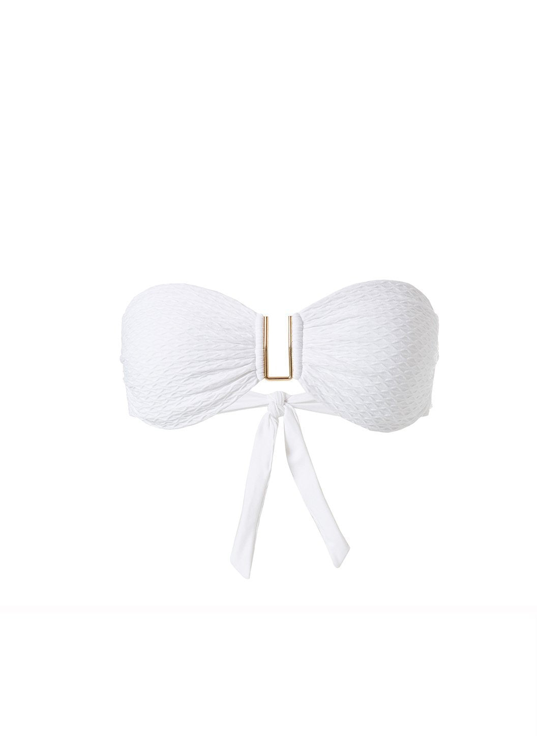 Barcelona White Waves Bikini Top