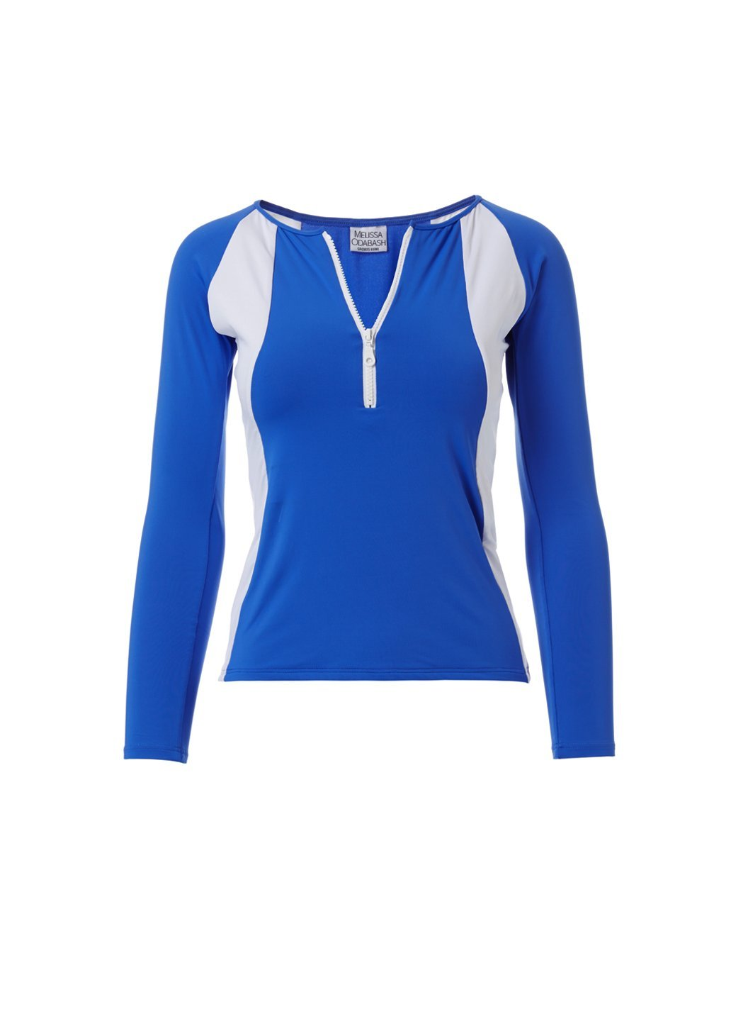 Bondi Cobalt White Sports Long Sleeve Rash Vest Top