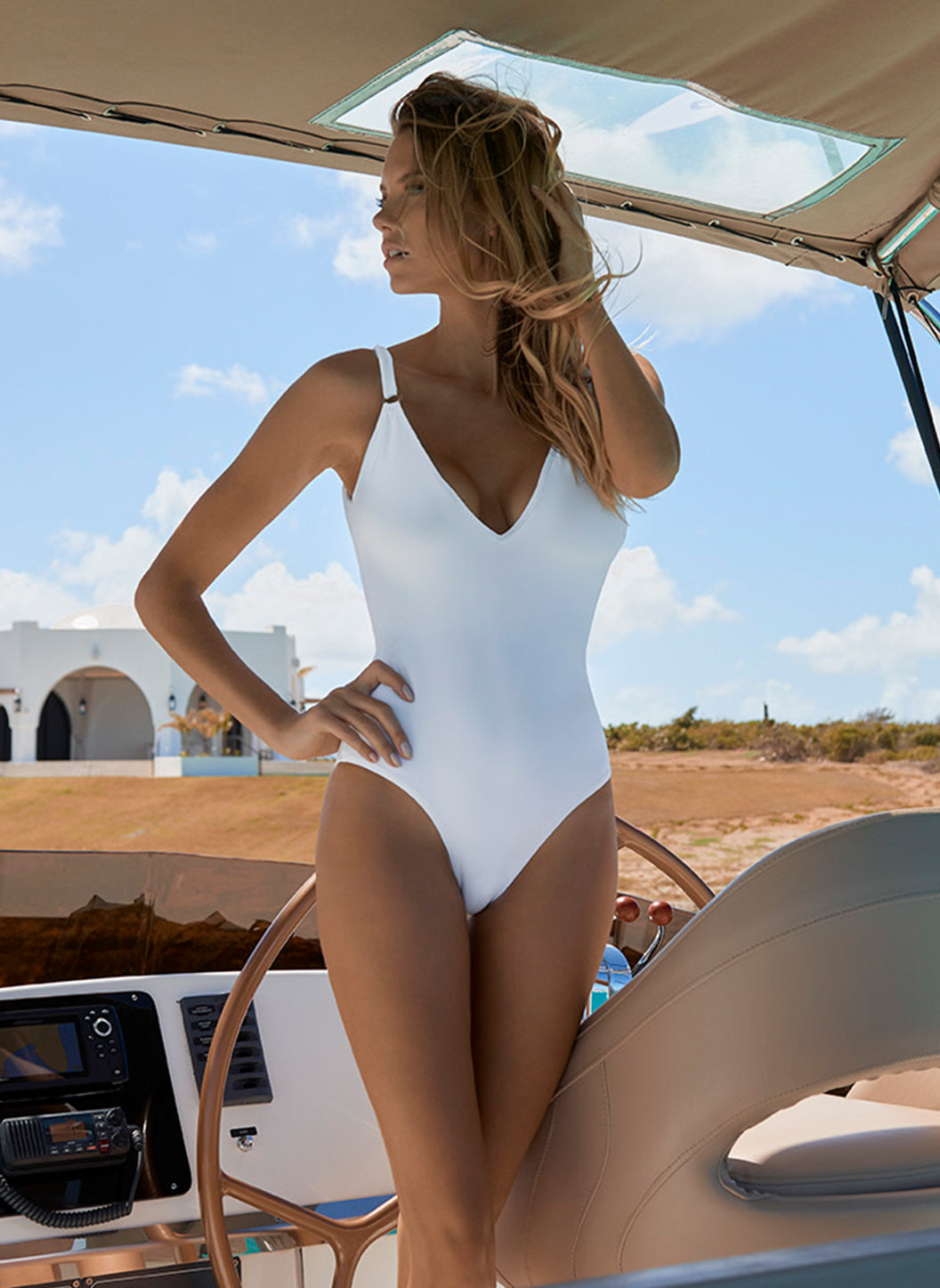 Cyprus White Swimsuit