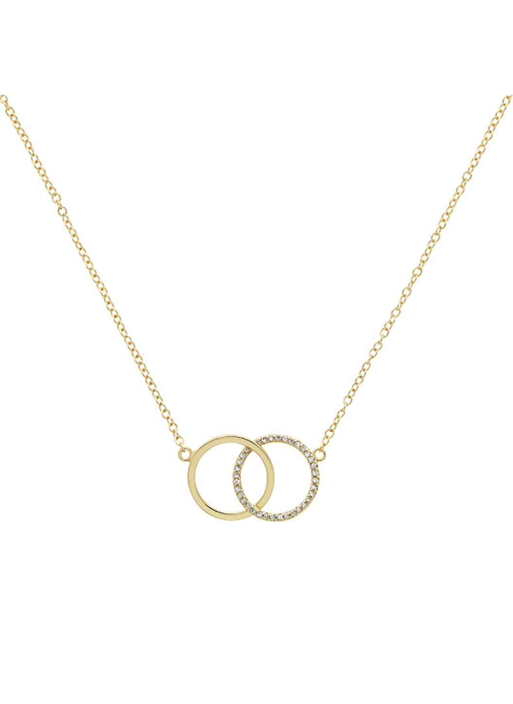 Gold Swarovski Double Hoop Necklace