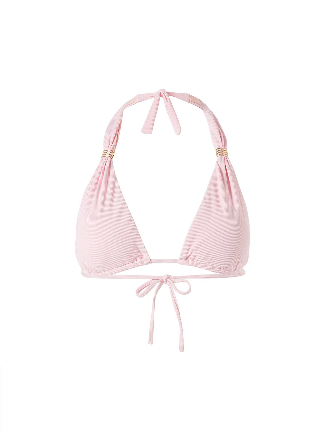 Grenada Ribbed Blush Bikini Top Cutout