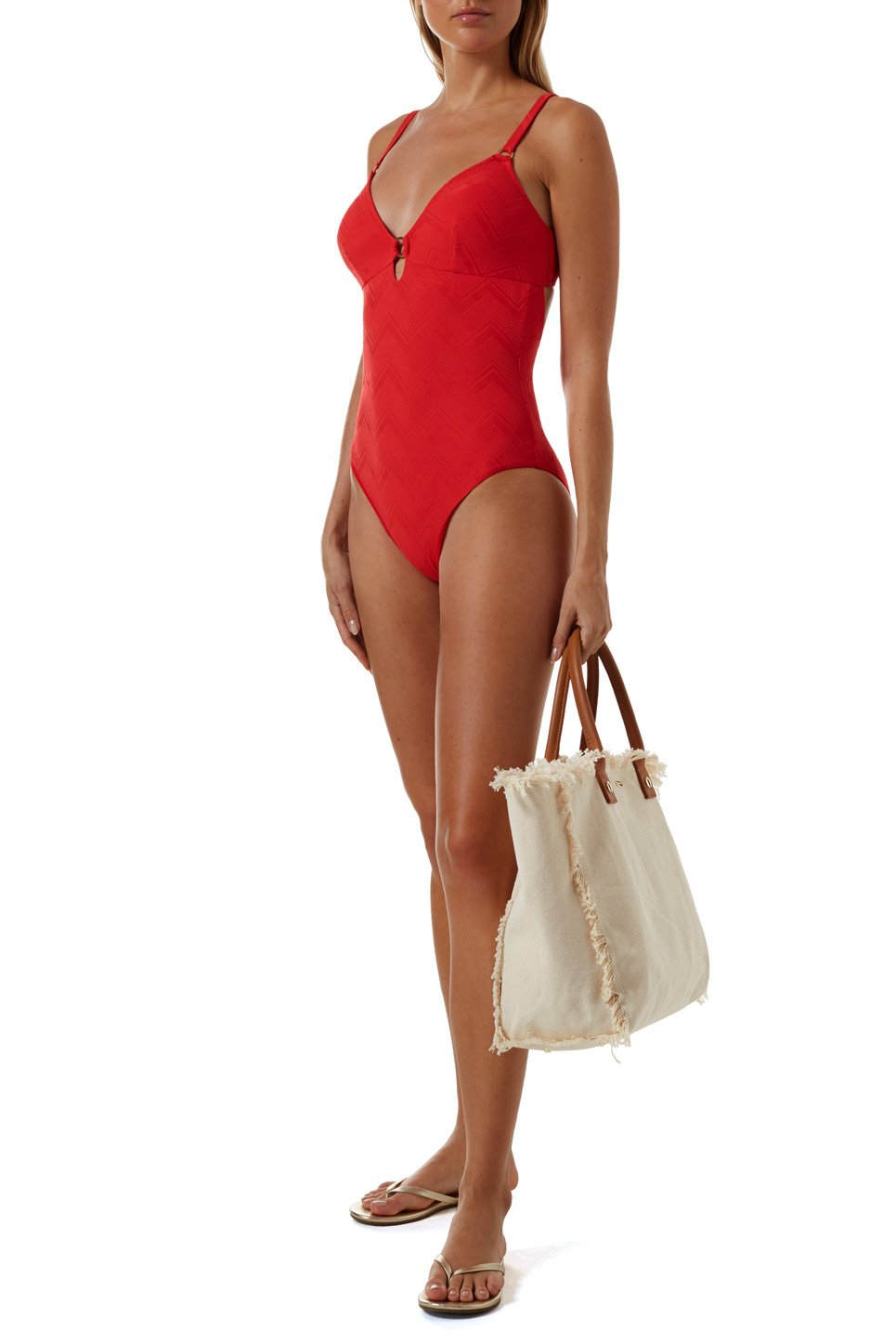 Havana Red Zigzag Swimsuit