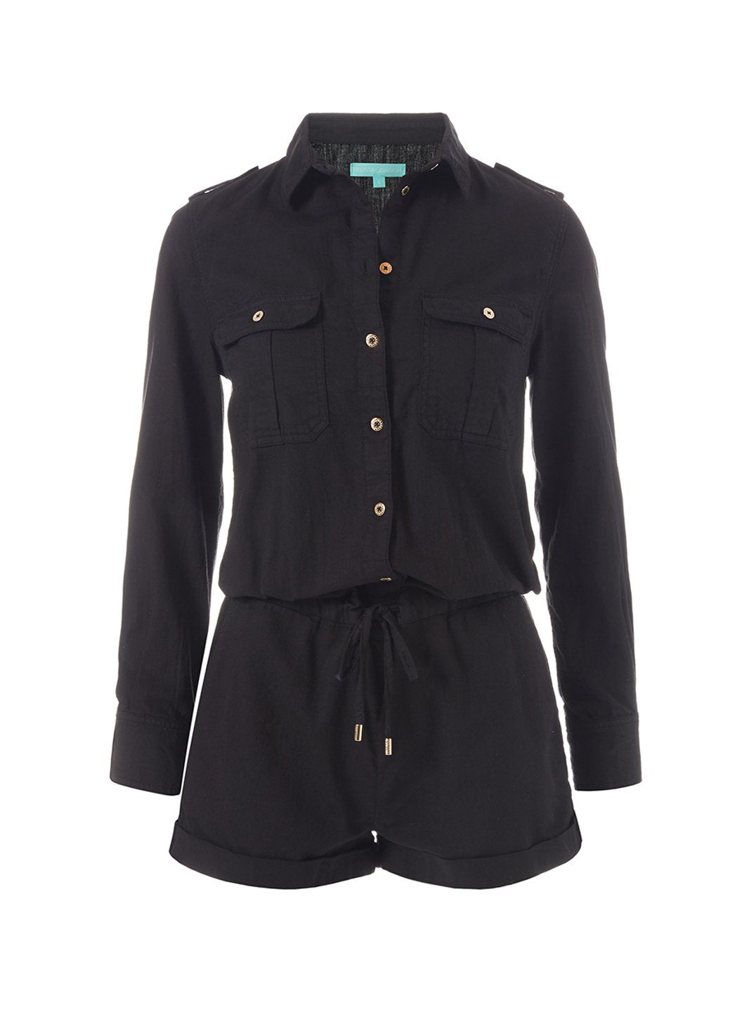 Honour Black Playsuit