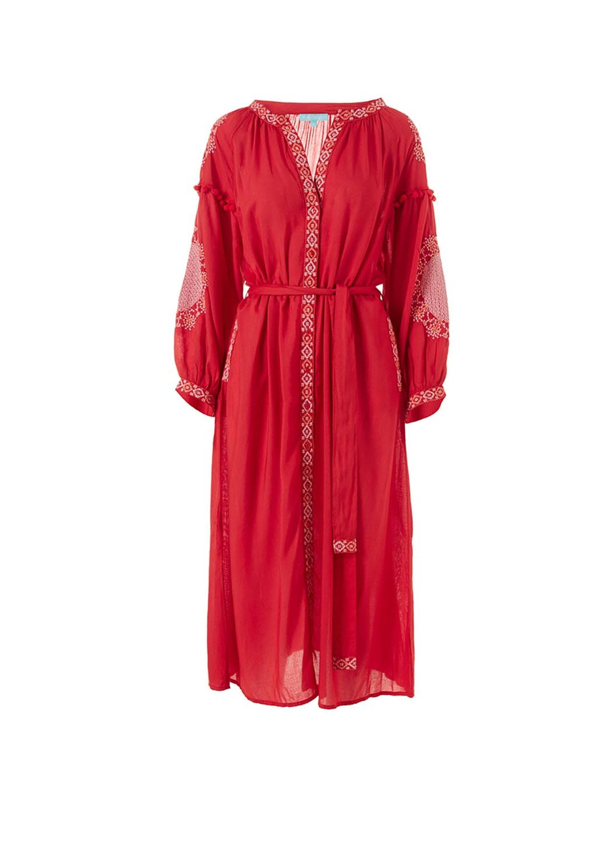 Iyla Red/White Long Kaftan