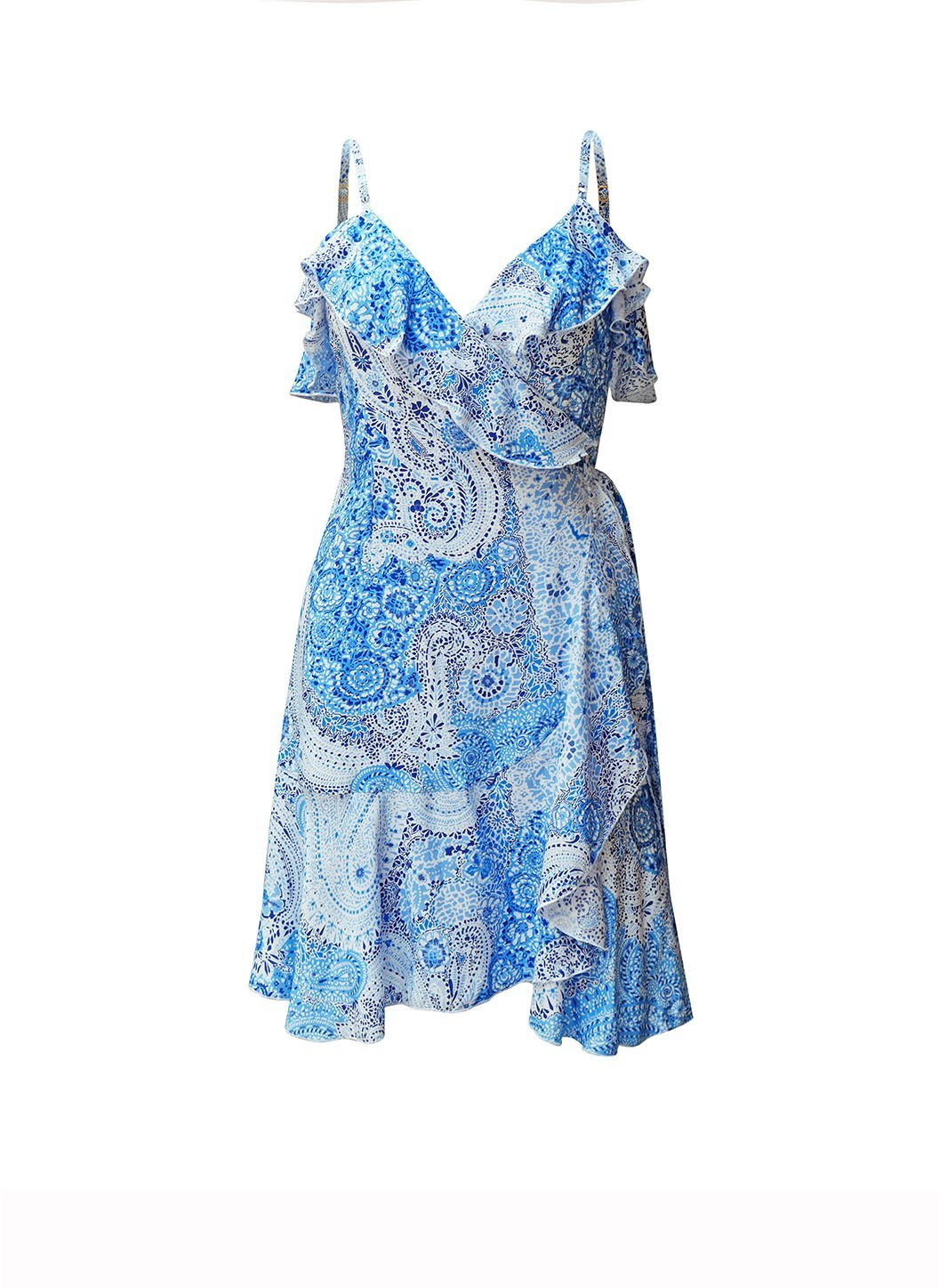 Peacock Blue Paisley Dress
