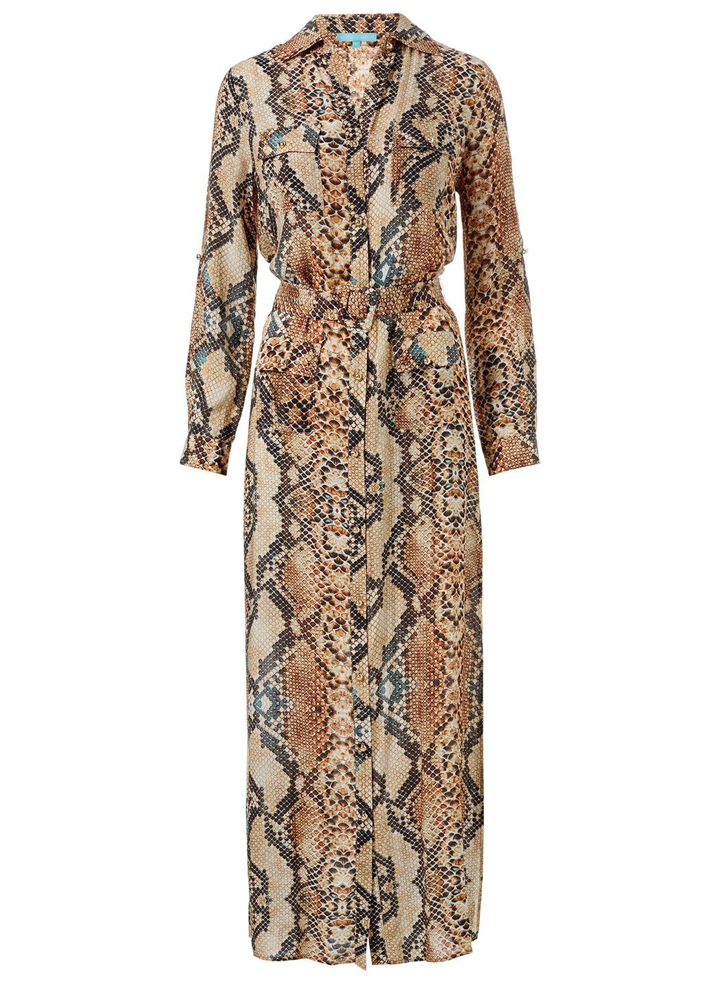 Peggy Snake Print Dress Cutout