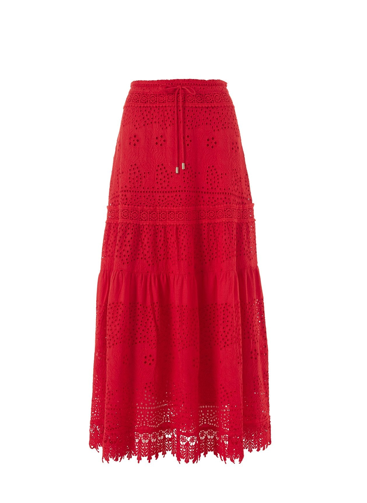 Alessia Red Maxi Skirt