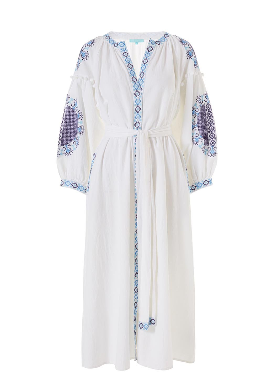 ally white celeste long kaftan