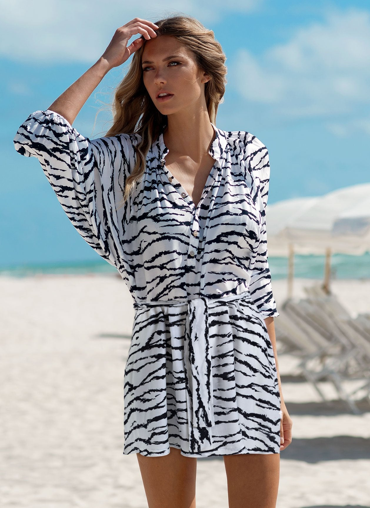 Amy Tiger Print Dress Lifestyle