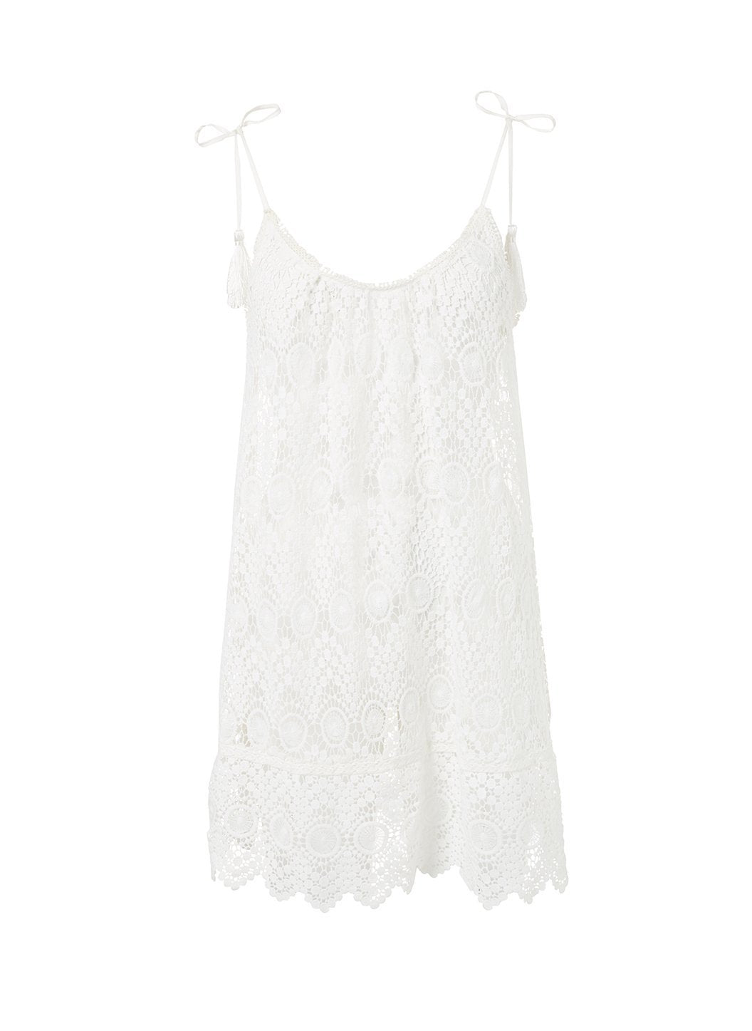 ana cream lace short tieshoulder beach dress 2019