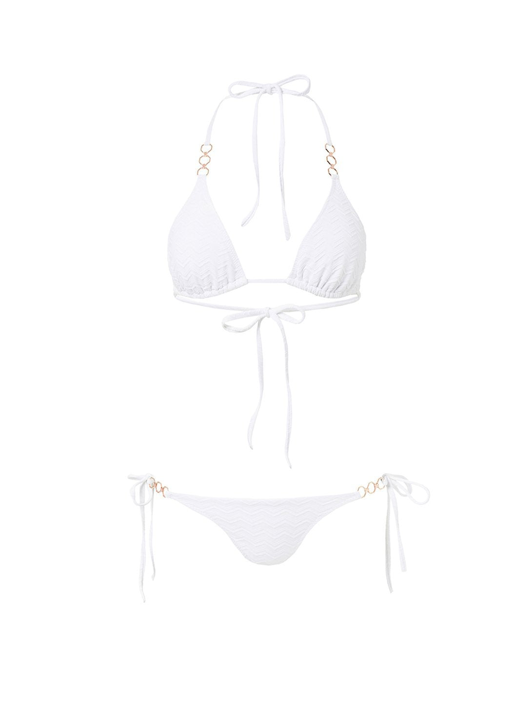 anguilla white zigzag triangle triple ring bikini 2019