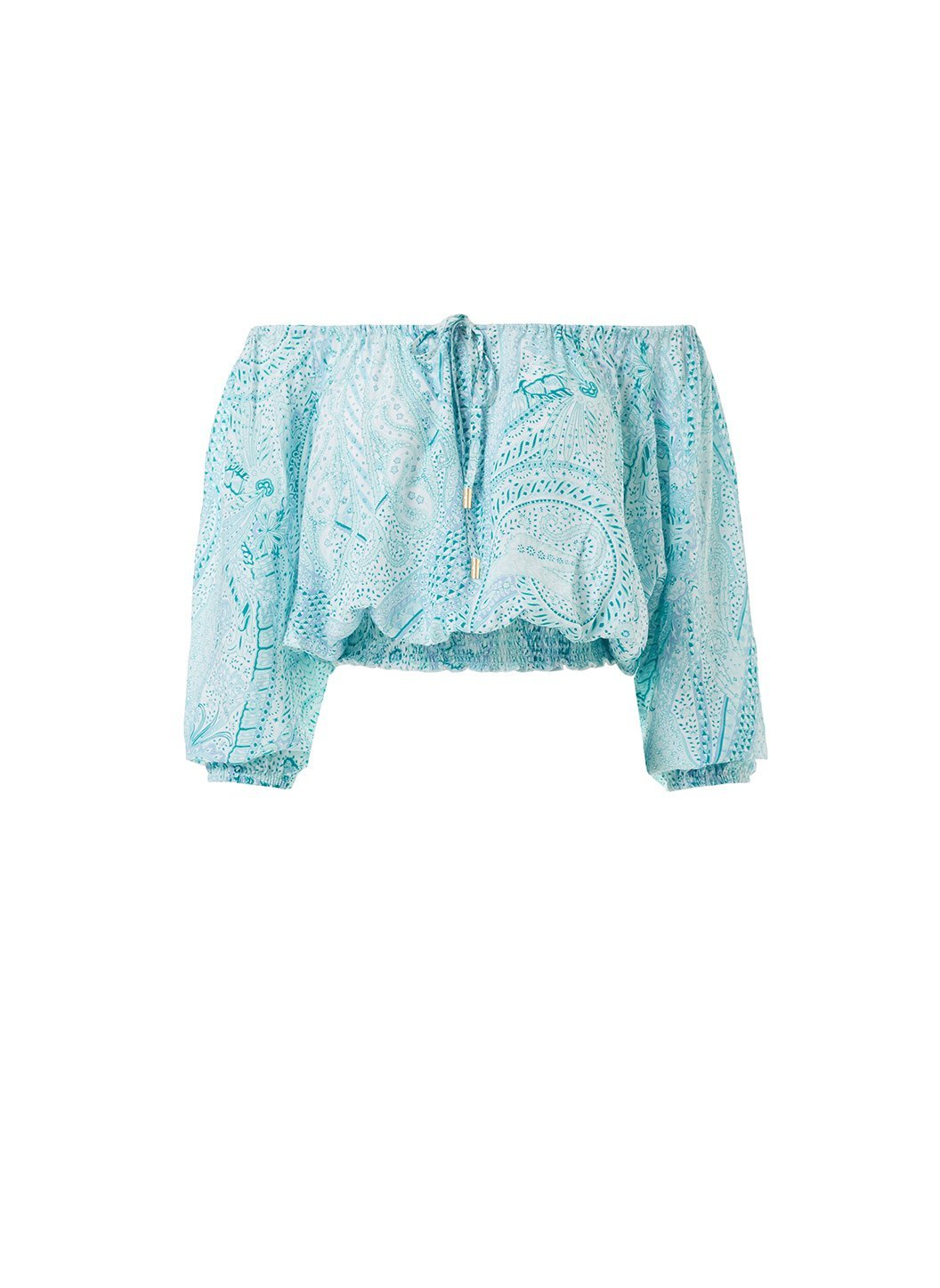 anne paisley offtheshoulder short sleeve top 2019