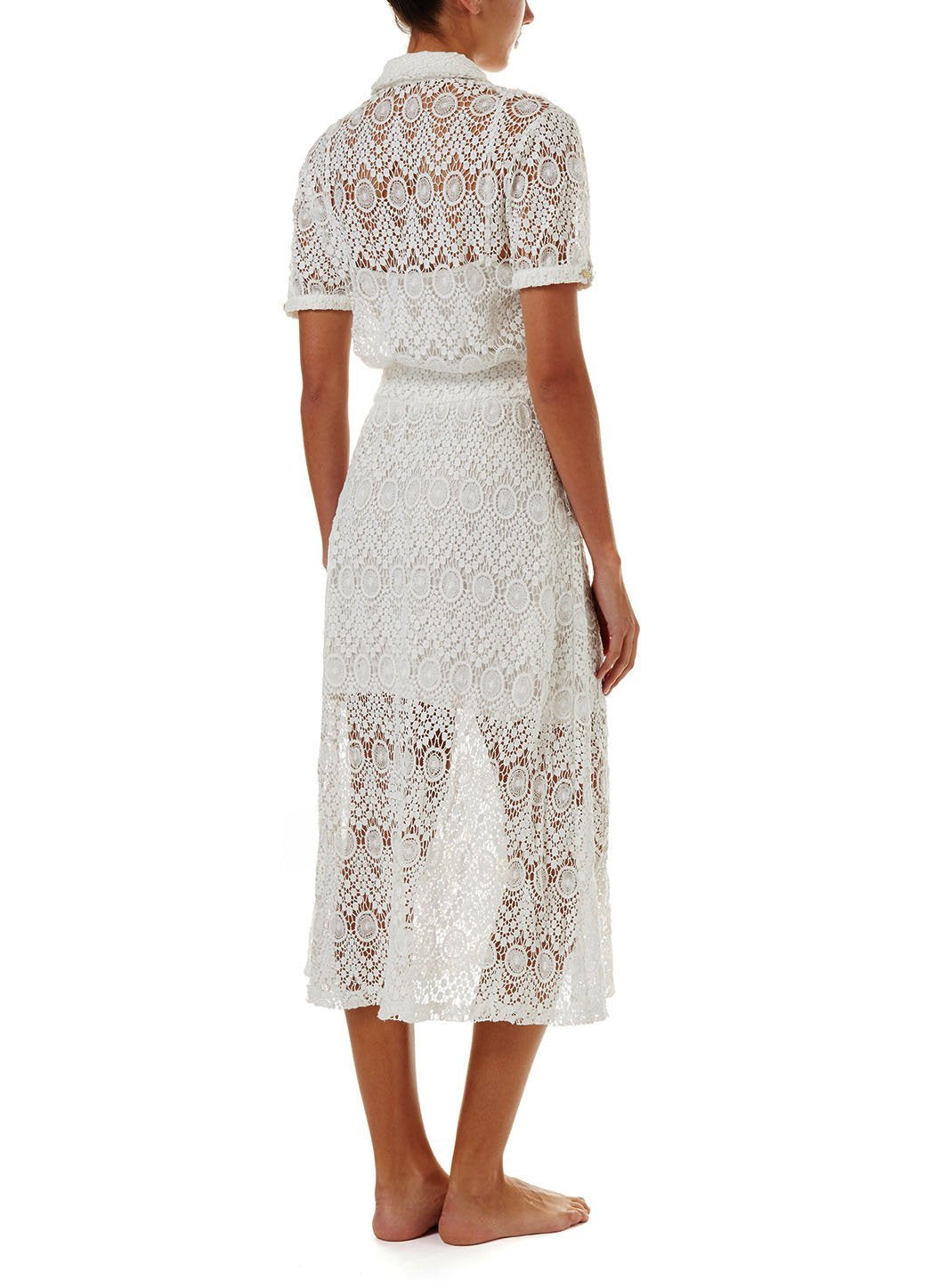 april white lace midi button down shirt dress 2019 B