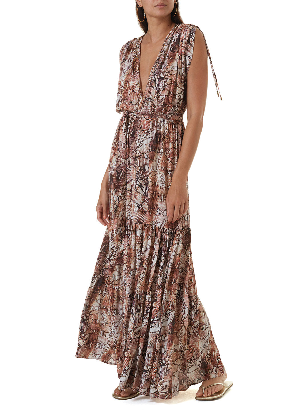 Aria Snake Long Dress