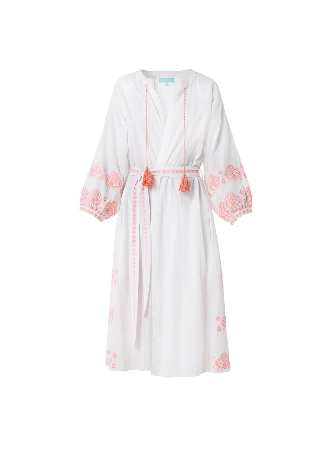 Audrey White/Rose Long Kaftan