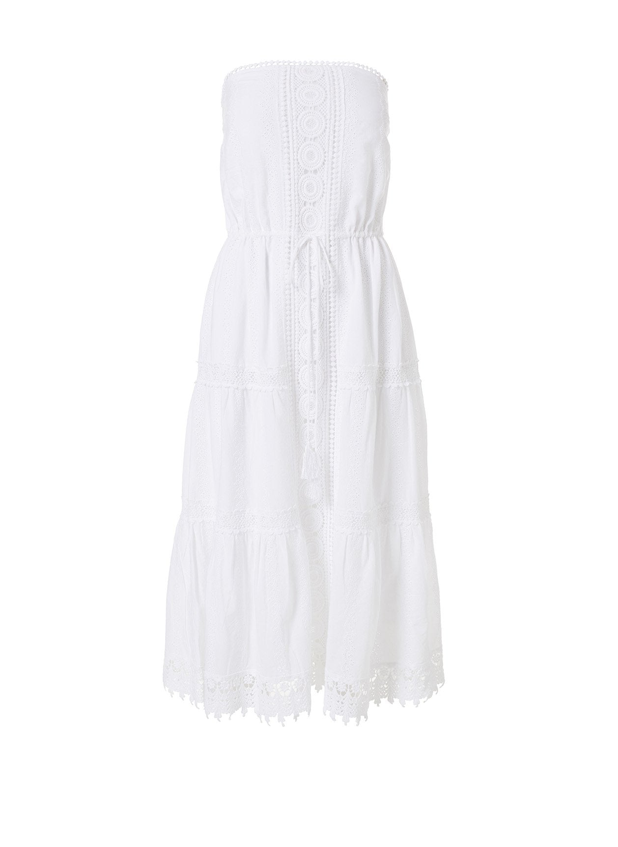Avalon White Midi Dress