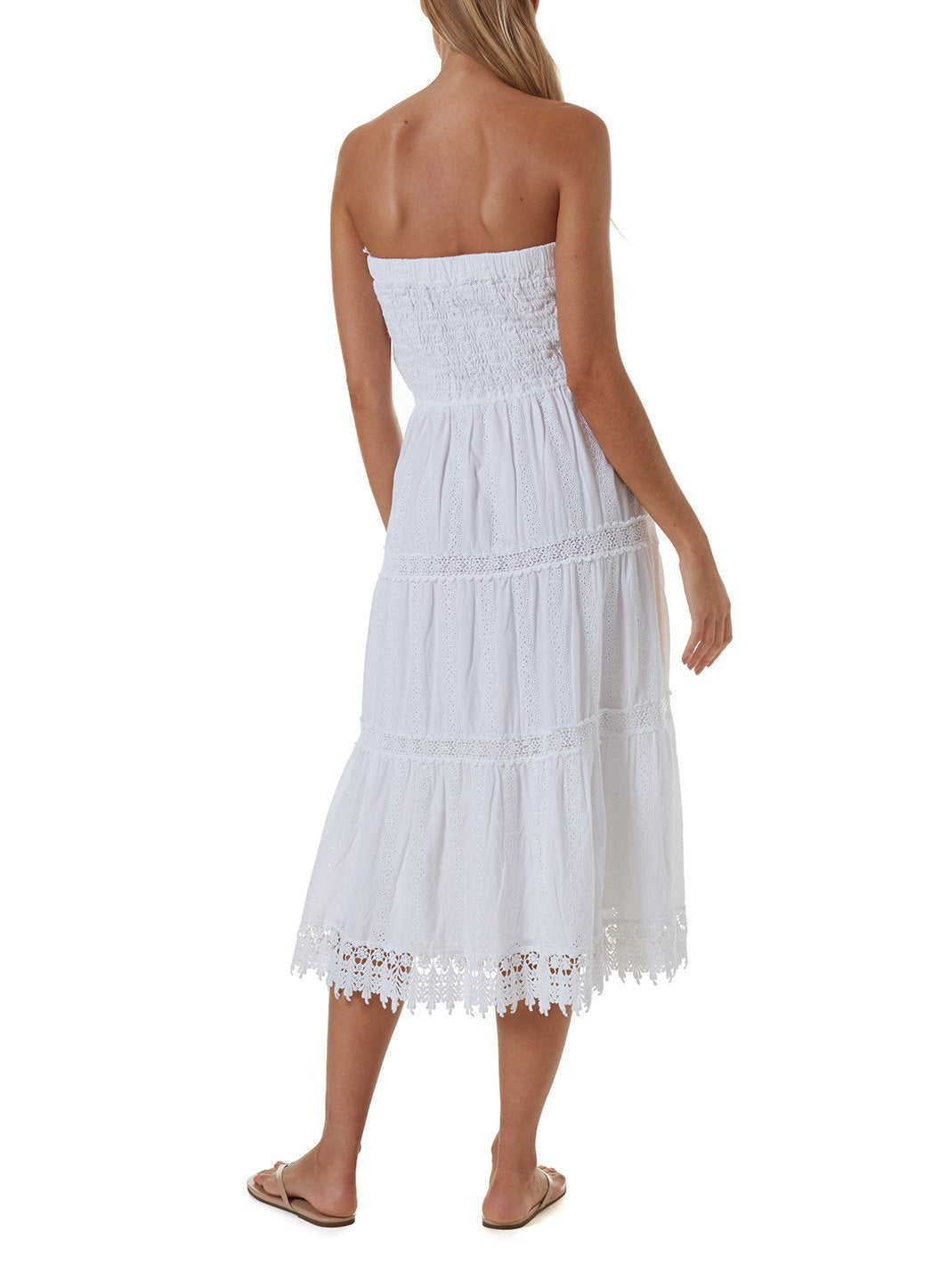 avalon white long dress