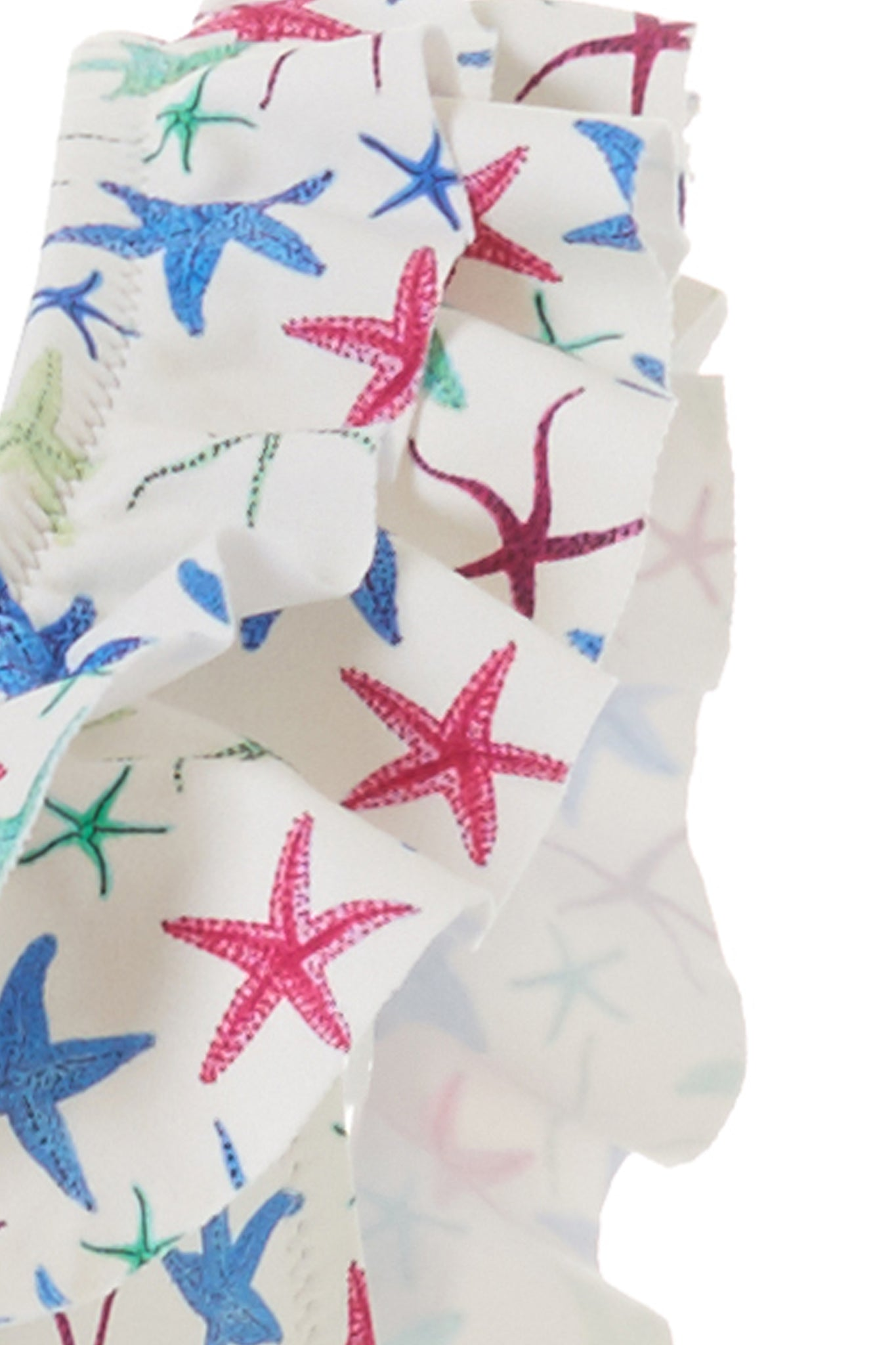 Baby Missy Starfish Over the Shoulder Frill Swimsuit