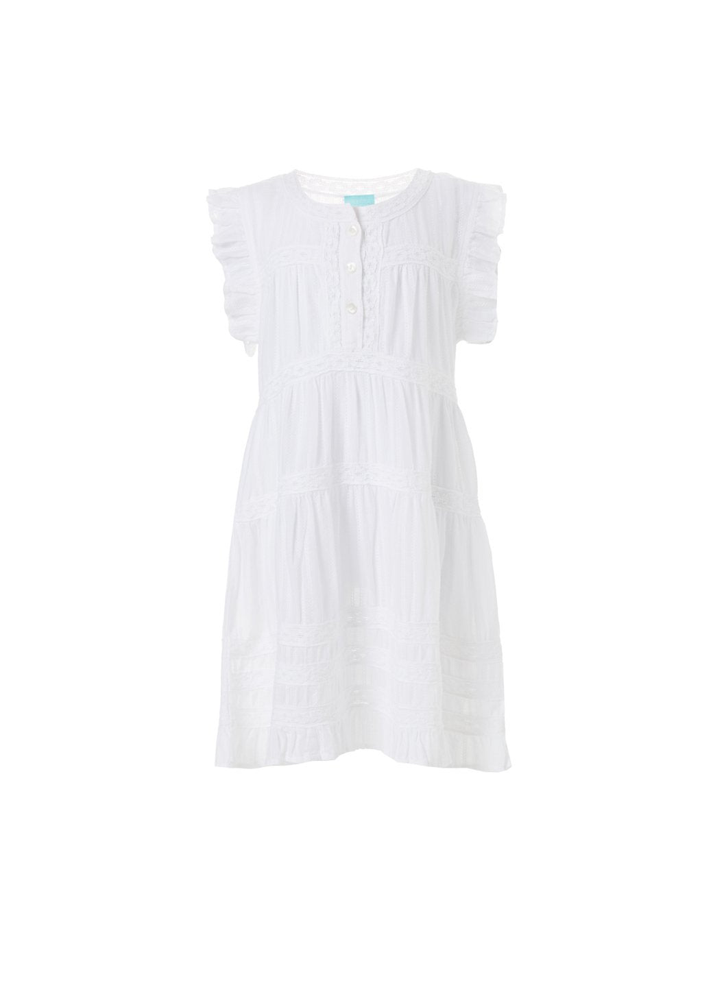 baby rebekah white smock dress 2019