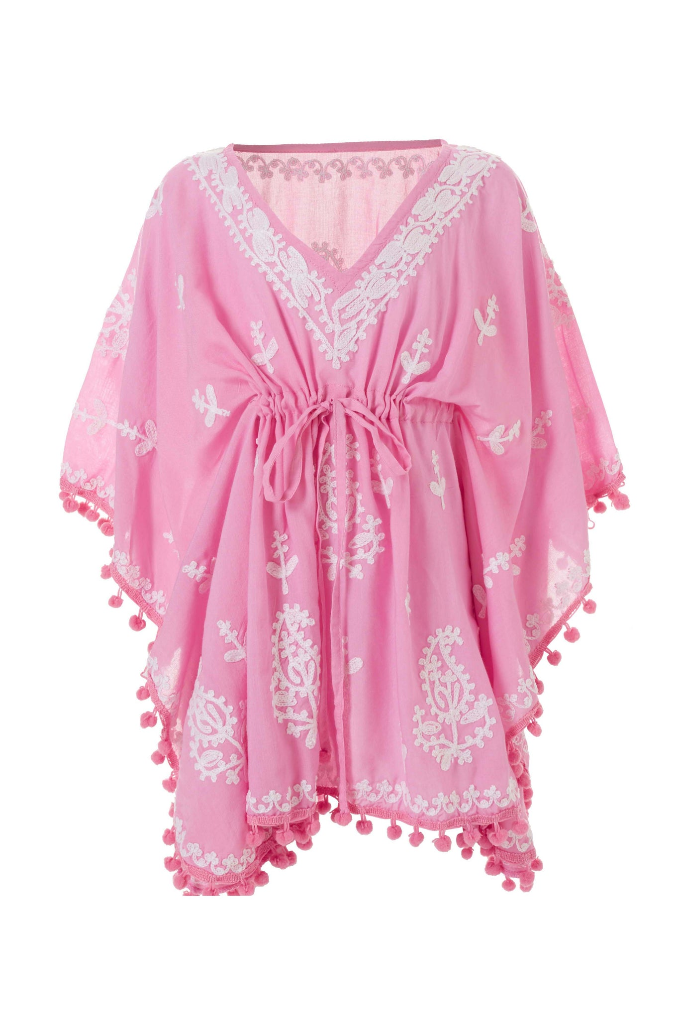 Baby Sharize Rose/White Embroidered Kaftan