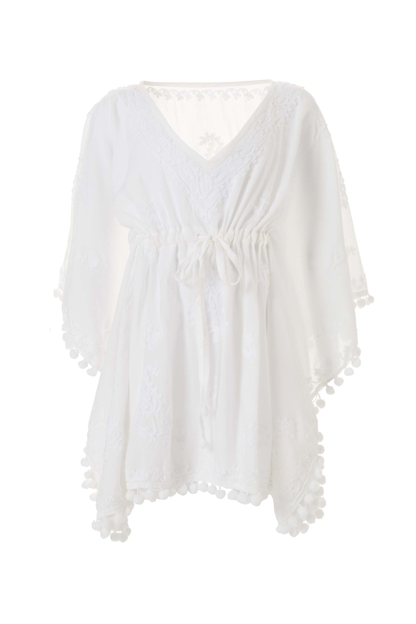Baby Sharize White Embroidered Kaftan