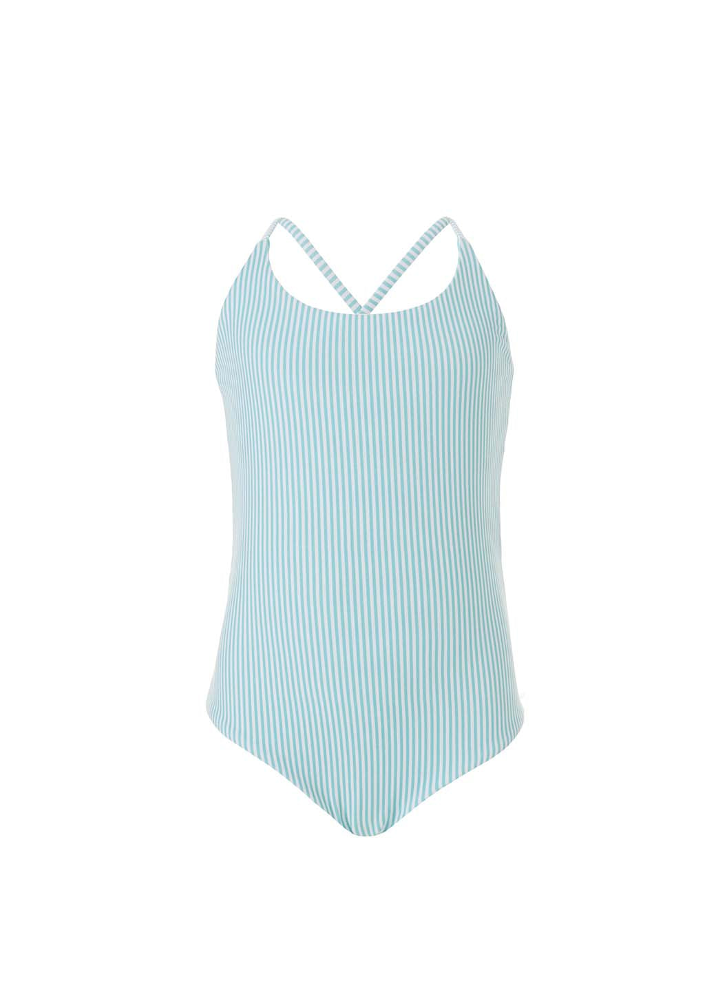 Baby Vicky Mint Stripe/Mint Reversible Swimsuit