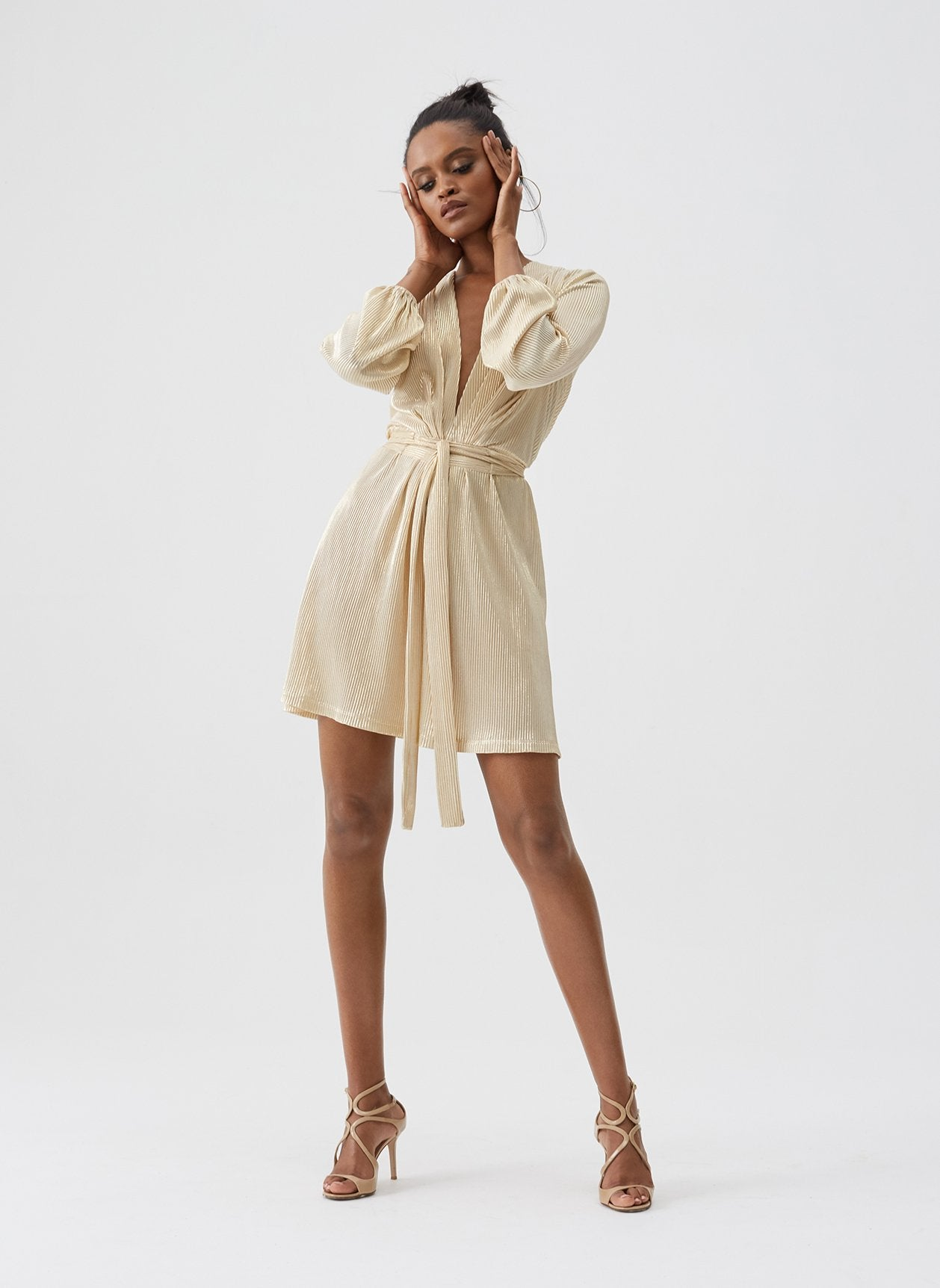 Banks Gold Mini Dress