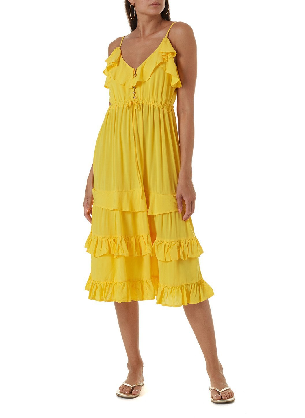 bethan yellow short dress