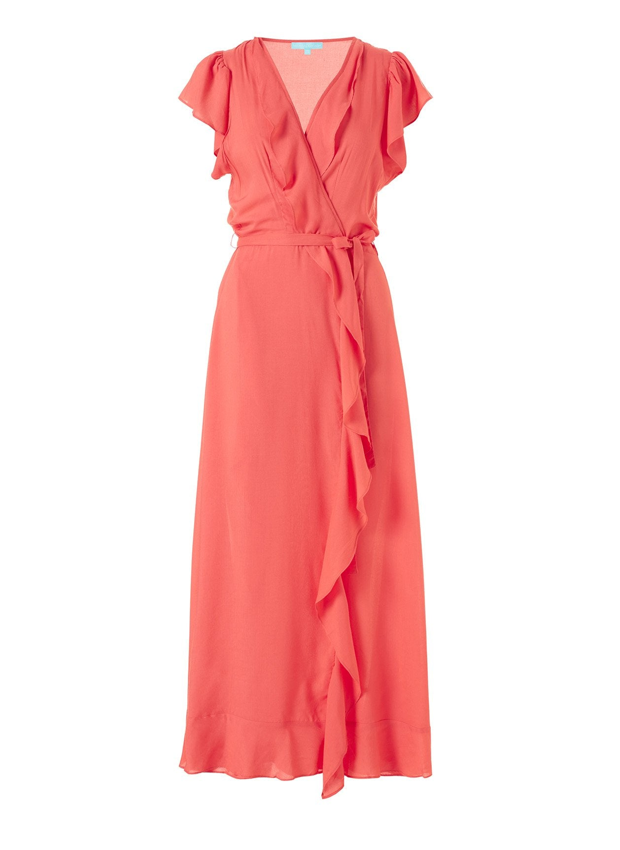 Brianna Tangerinefrill Wrap Front Maxi Dress 2020