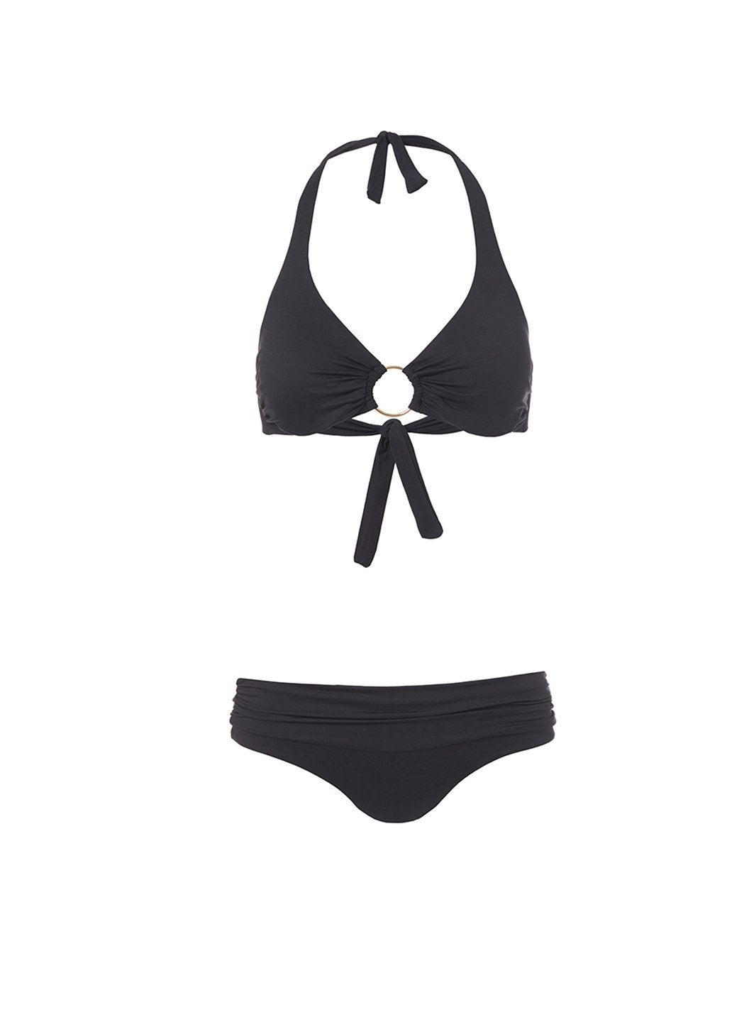 brussels black halterneck ring supportive bikini 2019