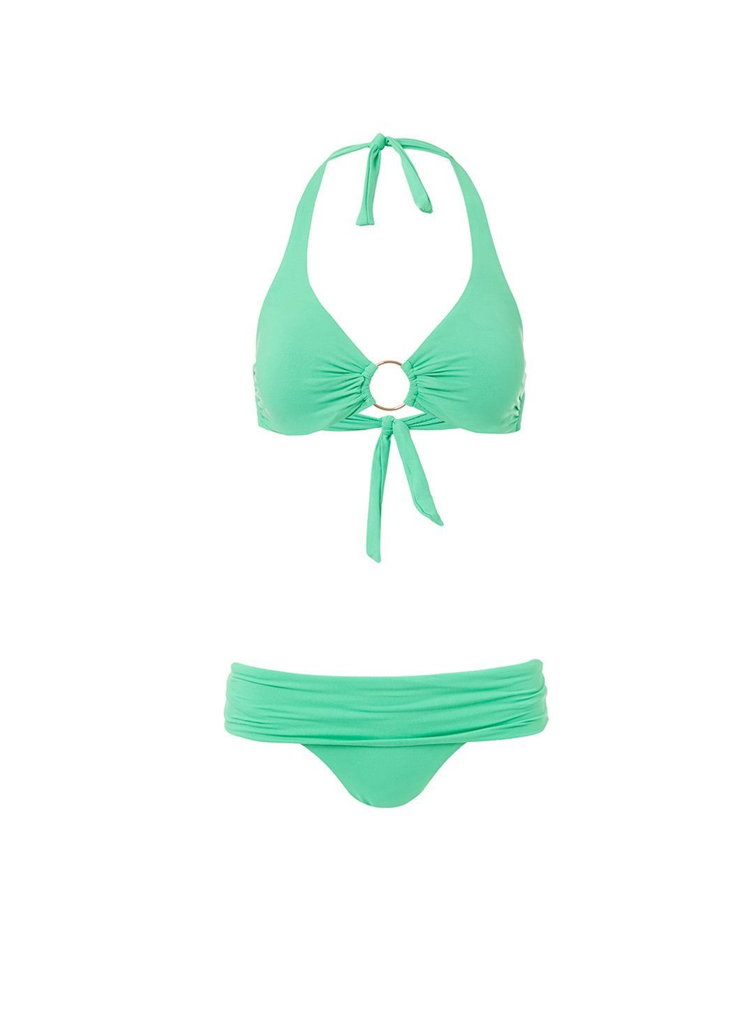 brussels green halterneck ring supportive bikini 2019