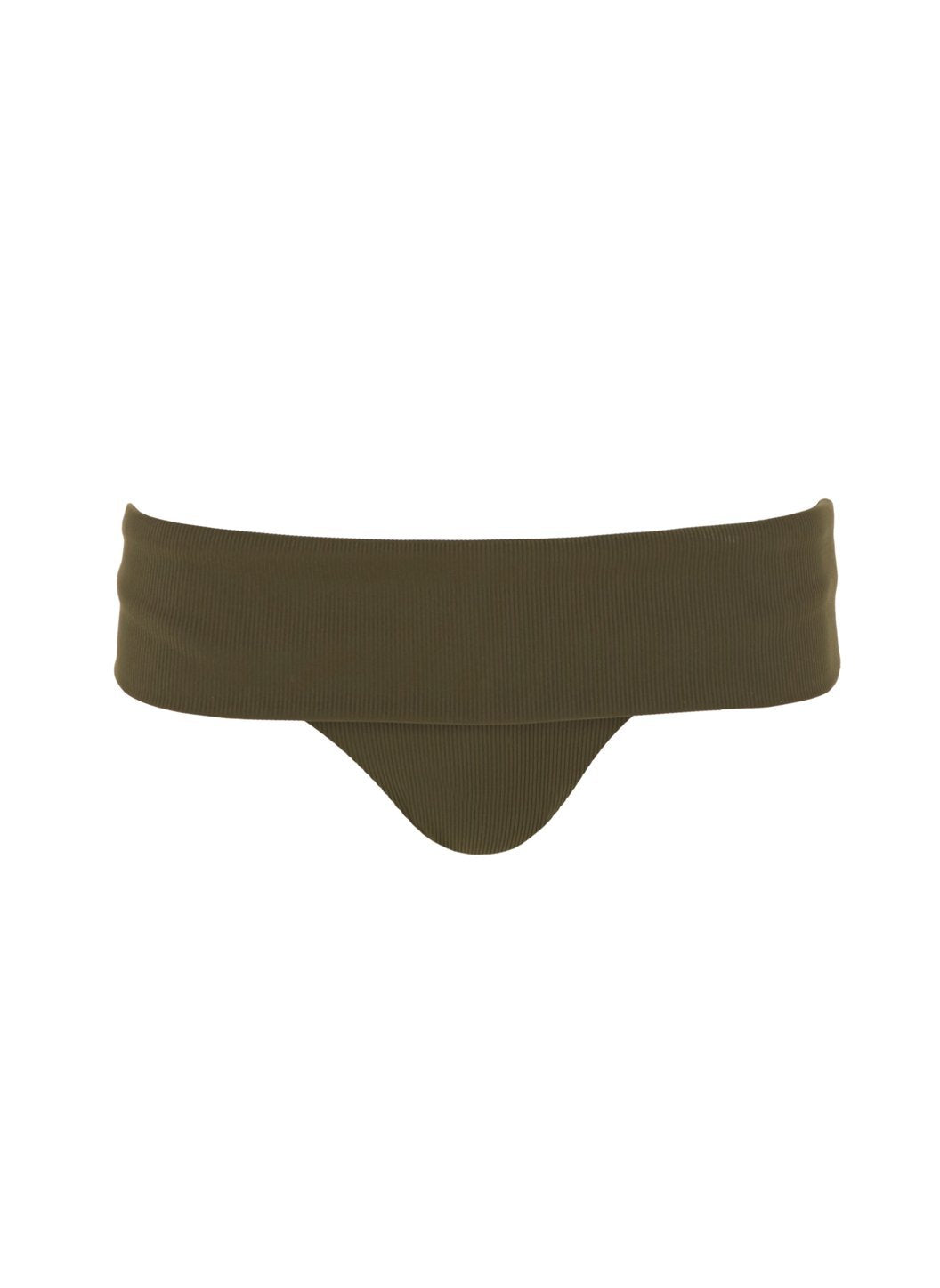 brussels olive ribbed bikini bottom