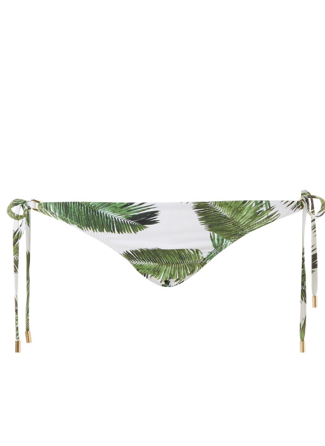 cancun white palm bikini bottom