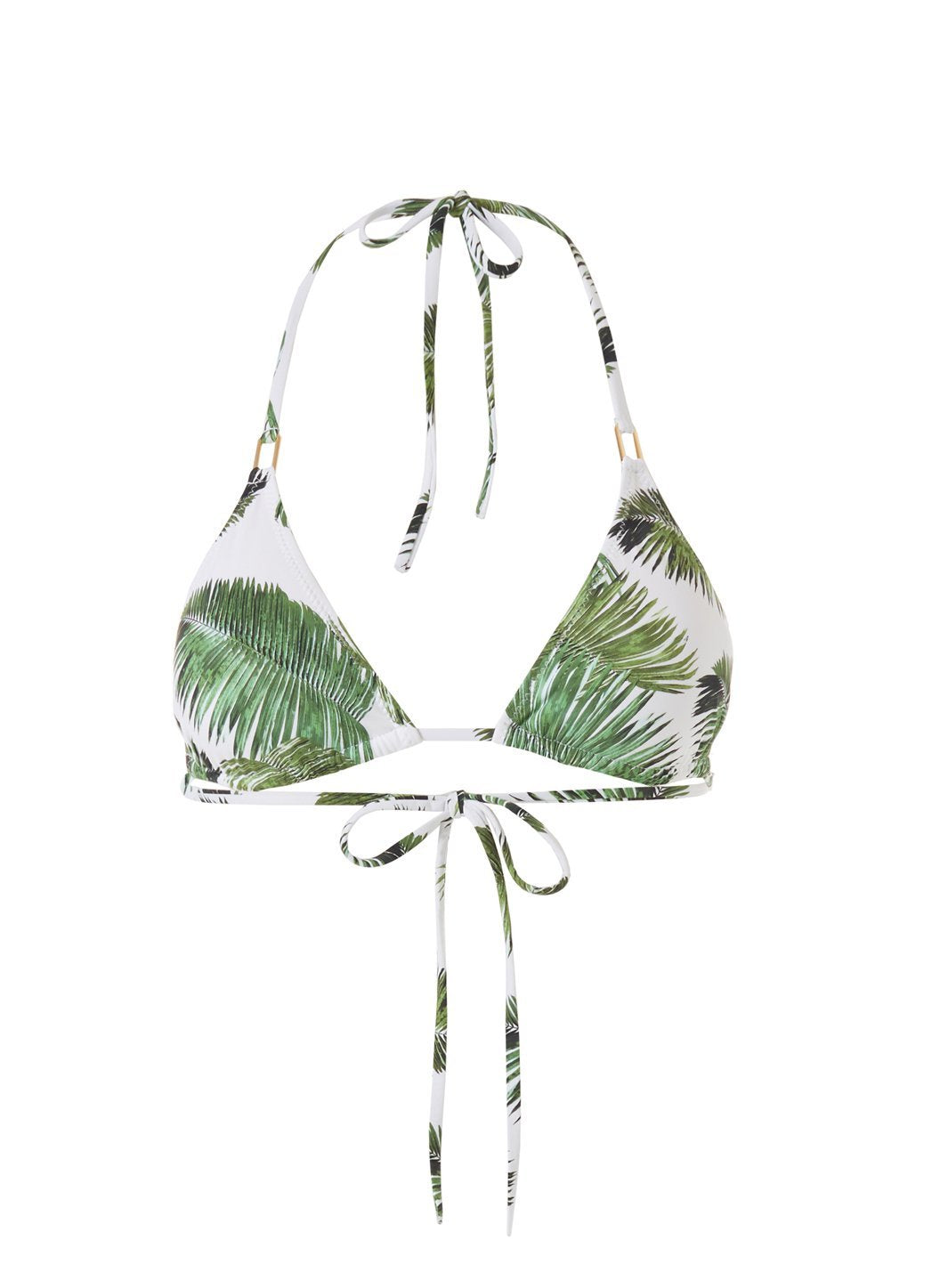 cancun white palm bikini top