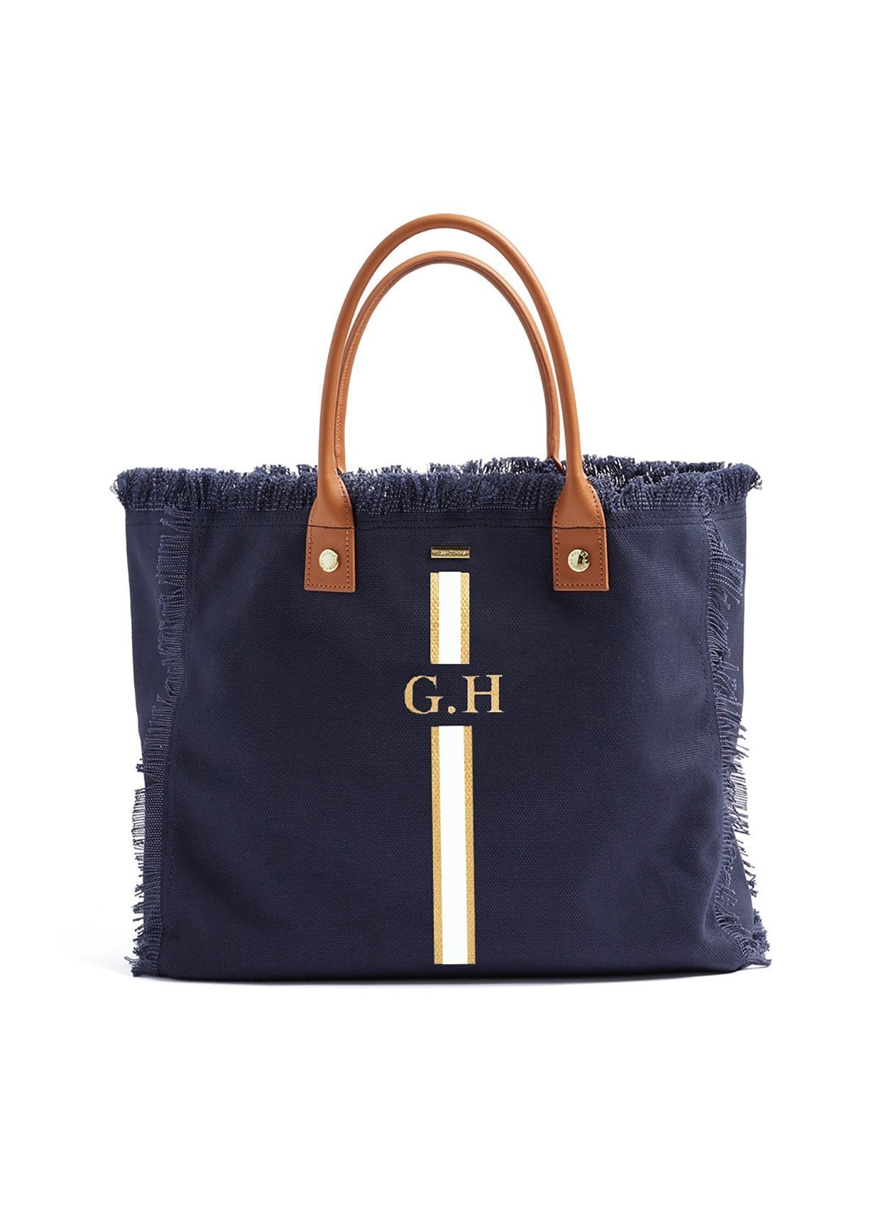 Cap Ferrat Navy Gold/White