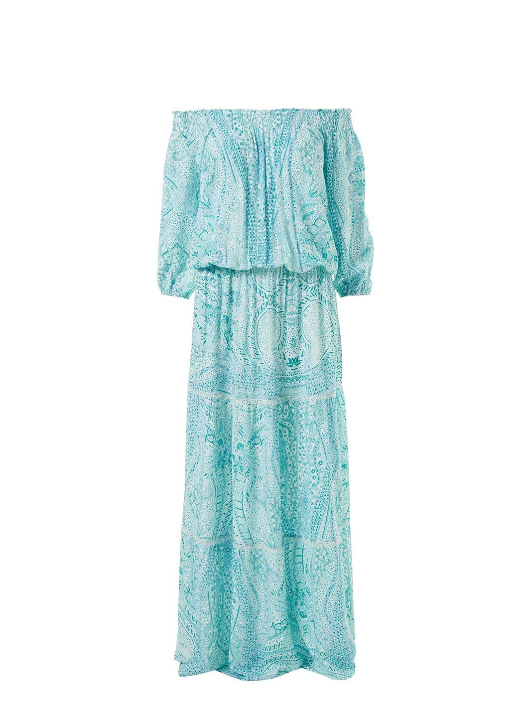 casey paisley offtheshoulder frill maxi dress 2019
