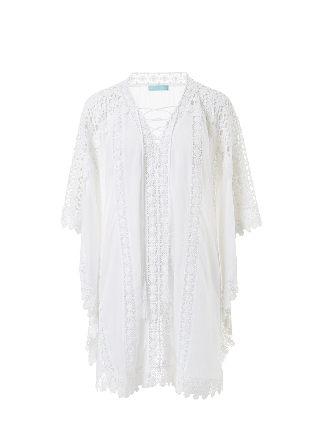 cindy white lace embroidered vneck short kaftan 2019