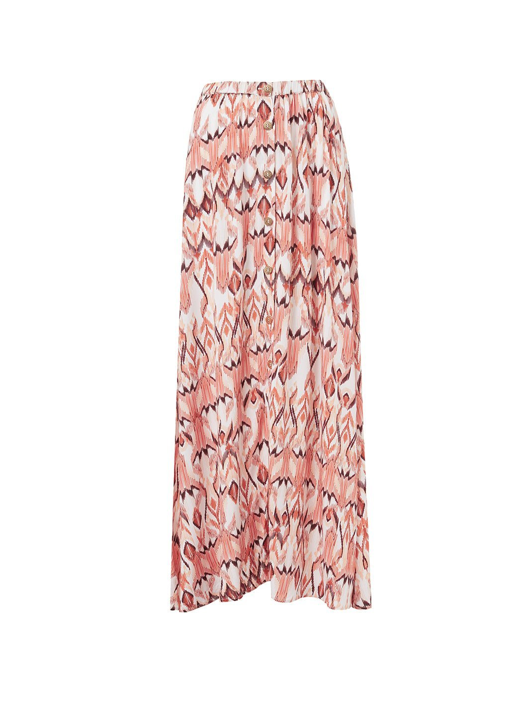 daisy ikat buttondown maxi skirt 2019