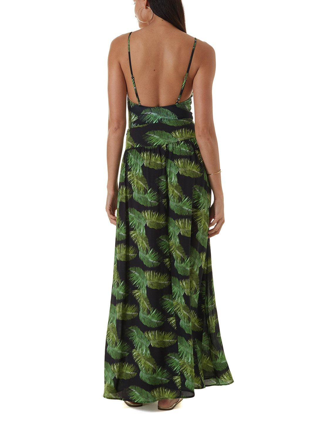 elsa palm black maxi skirt
